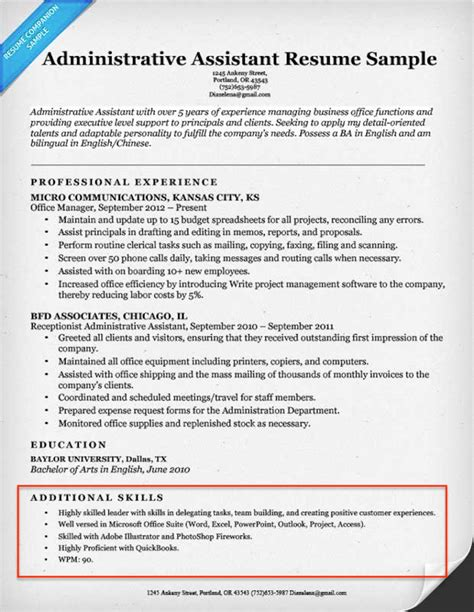 Example Of Skills Section Of Resume   BEST RESUME EXAMPLES