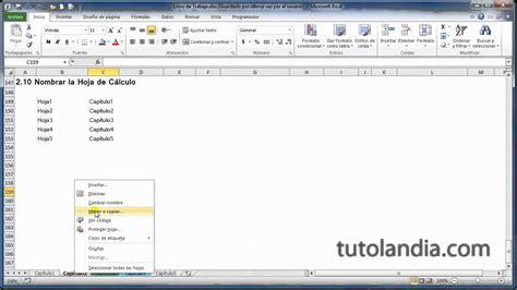 Excel 2010 Basico: 2.10 Nombrar la Hoja de Cálculo   YouTube