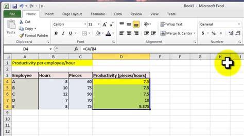Excel 2010 Tutorial for Intermediates   Calculation ...