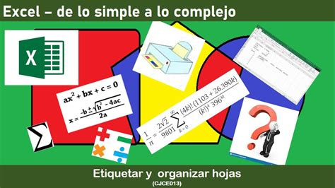 Excel Organizar hojas, nombrarlas, copiar pegar celdas ...