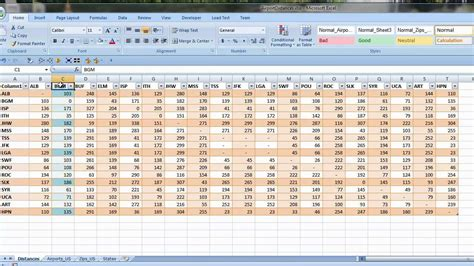 Excel VLOOKUP to Calculate Distances using Latitude ...