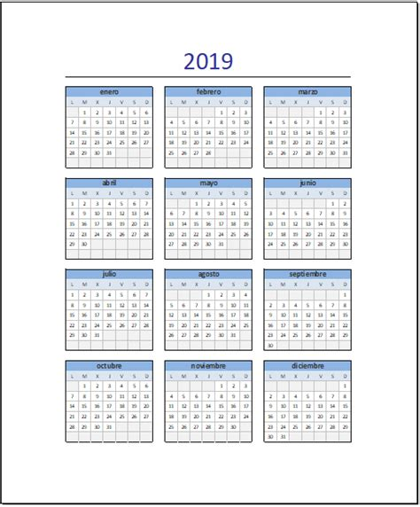 EXCELExpertos: Recomendamos: Calendario 2019 en Excel