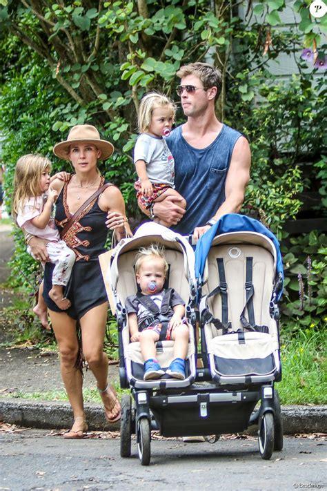 Exclusif   Chris Hemsworth avec sa femme Elsa Pataky et ...