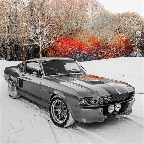 EXCLUSIVE:  Eleanor  67 Shelby GT500 In The UK Snowfall ...