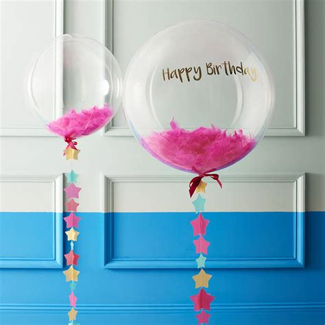 exclusive personalised feather birthday bubble balloon by ...