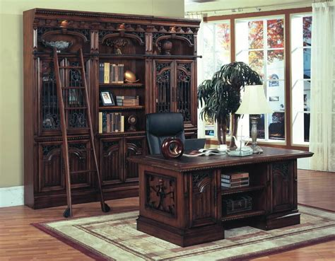 Executive Home Office Desk Solid wood metal accents | eBay