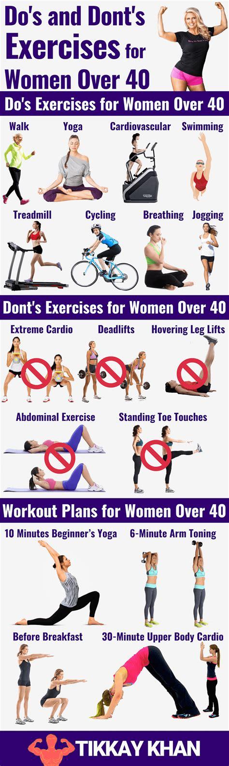 Exercises for Women Over 40 Updated  2020    Tikkay Khan