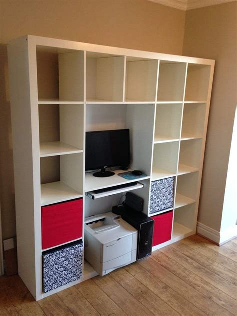 Expedit Shelving & Computer Desk Hack   IKEA Hackers