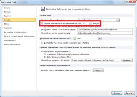 ExpertoExcel2013: Recuperar un archivo de Excel