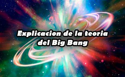 Explicacion de la teoria del Big Bang