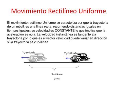 Explicacion Sobre Movimiento Rectilineo Uniforme