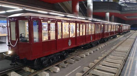 Exposición de trenes por el centenario de Metro de Madrid