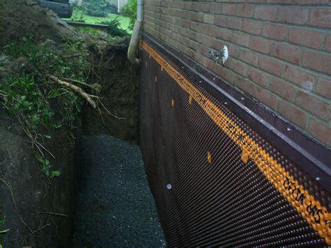 exterior basement wall waterproofing   Waterproofing ...