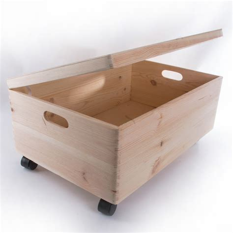 Extra Large Wooden Storage Box With Lid And Handles / Toy ...