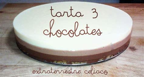 ExtraTerrestre Celiaco: Tarta 3 chocolates sin gluten