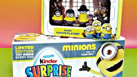 Eye, Matie Minions Micro Set & Kinder Surprise Eggs   YouTube