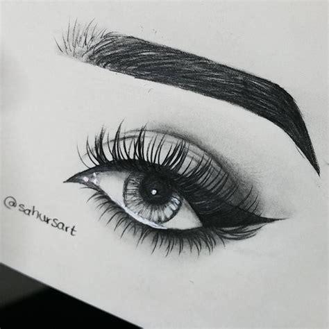 #EyeLashesExtensions   Pencil art drawings, Eye drawing ...