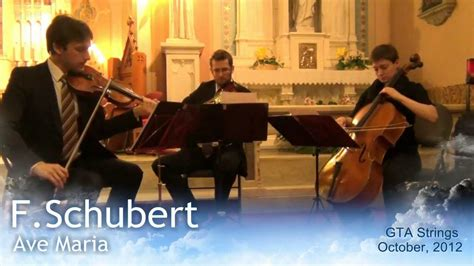 F.Schubert   Ave Maria   GTA Strings LIVE   YouTube