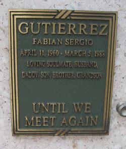 Fabian Sergio Gutierrez  1960 1988    Find A Grave Memorial