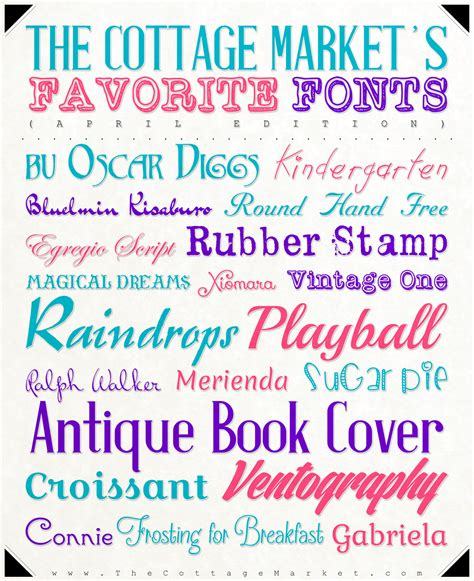 Fabulous Free Fonts for April from The Cottage Market ...