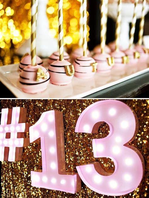 Fabulous Pink & Gold Glitter Teen Birthday   13th Birthday ...
