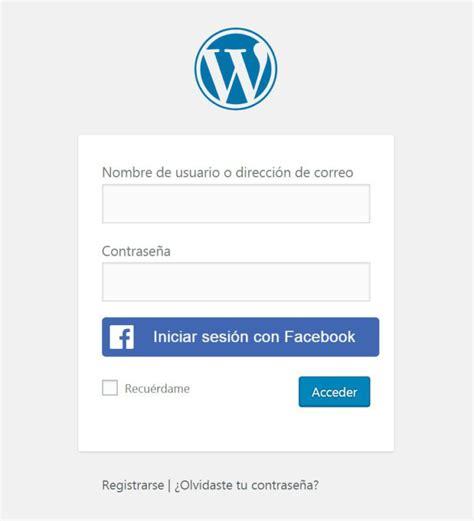 Facebook login en WordPress   Boluda.com