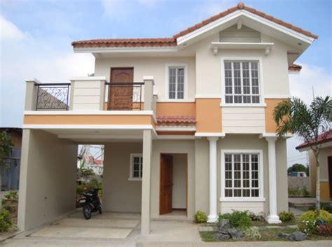 Fachadas de casas color durazno