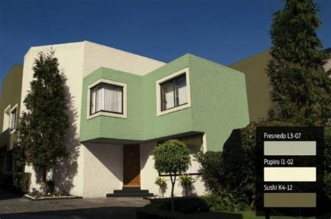 fachadas de casas en color verde  2