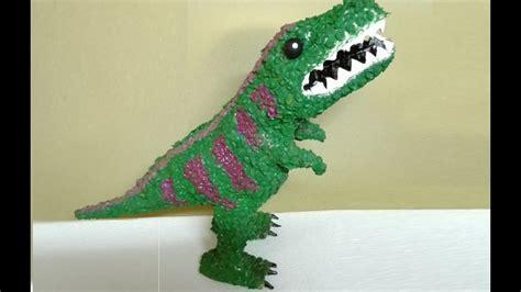 Faciles Como Hacer Un Dinosaurio De Material Reciclado ...