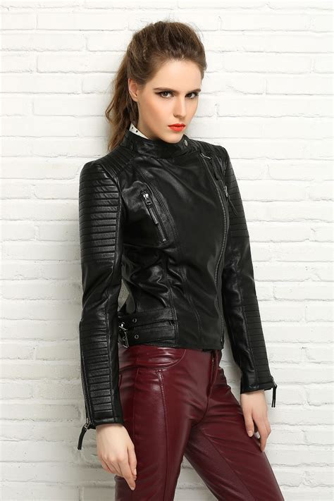 Factory Genuine Sheep Skin Women Leather Jacket Brand ...