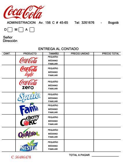 Factura de Coca Cola | Liliana Morales