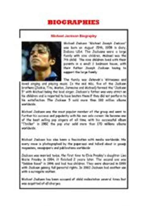 FAMOUS BIOGRAPHIES   ESL worksheet by briyi