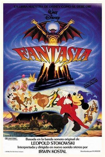Fantasia  1940  Mickey Mouse Walt Disney cartoon movie ...