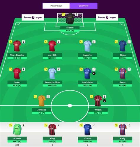 Fantasy Premier League tips: FPL squad templates ...