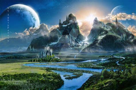 Fantasy world by IgnisFatuusII on DeviantArt