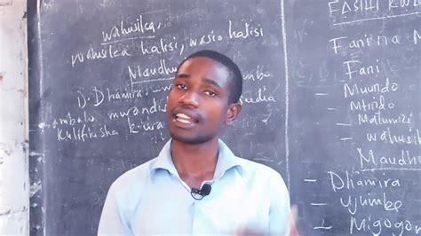 FASIHI KWA UJUMLA  Learn Kiswahili language     YouTube