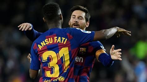 Fati and Messi connection sees Barca hold on against ...