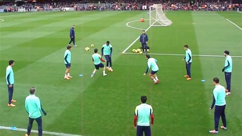 FC Barcelona amazing training 2014 tiki taka rondo show ...