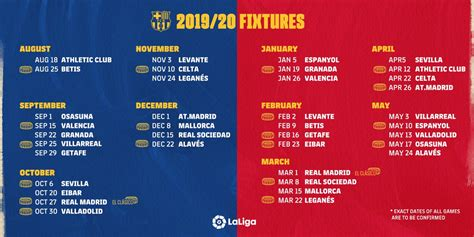 FC Barcelona on Twitter:   [LA LIGA 2019/20 FIXTURES]…