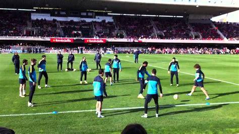 FC Barcelona rondo show tiki taka in training   YouTube