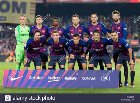 Fc Barcelona Team High Resolution Stock Photography and ...