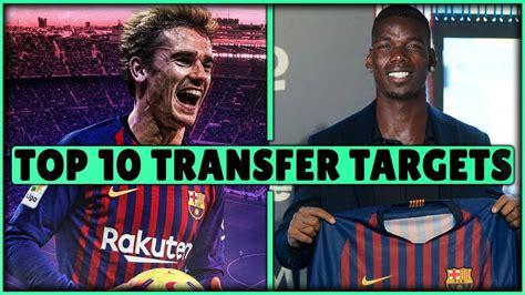 FC Barcelona TRANSFER Targets 2019  TOP 10  Transfer News ...