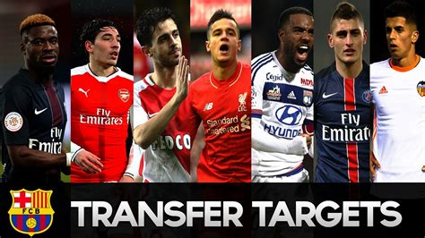 FC Barcelona Transfer Targets Summer 2017 HD   YouTube