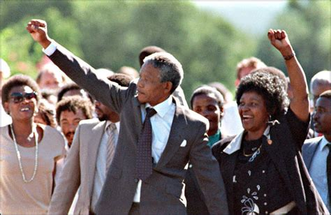 Feb. 11th, 1990: Nelson Mandela released from prison   CBS ...