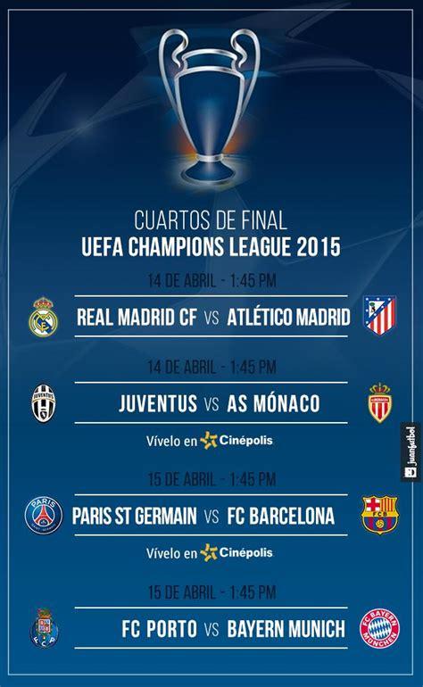Fecha y hora de los cuartos de final de la Champions League