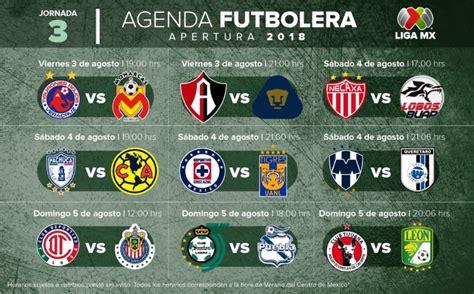 Fechas, horarios y dónde ver la jornada 3 de la Liga MX