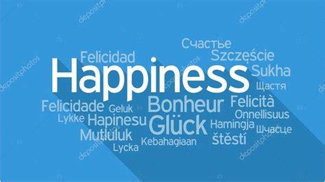 Felicidad en diferentes idiomas, nube de etiquetas de word ...
