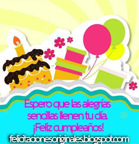 Felicitaciones de Cumpleaños Originales Felicitaciones ...