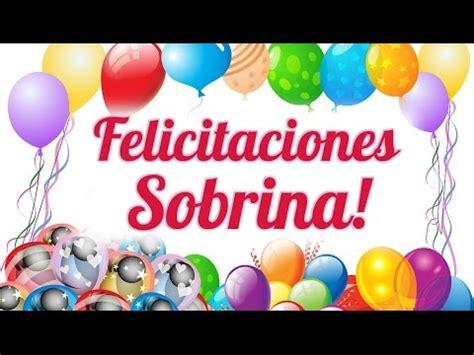 Felicitaciones Sobrina por tu Cumpleaños   YouTube