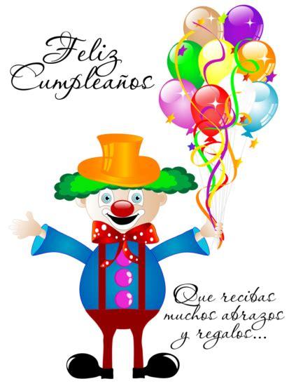 feliz cumpleaños con mensaje felicitaciones payaso | Happy ...